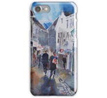 Lamp Post & Shops Stavanger Norway - City Art Gallery iPhone Case/Skin