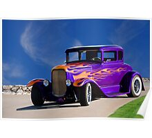 1930 Ford Model A Coupe 'Old School' Poster