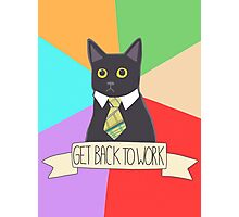 Internet Meme - Business Cat - Get Back To Work  Photographic Print