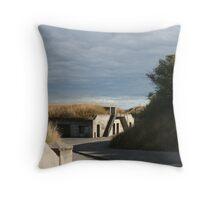 Desolate Fort Casey Throw Pillow
