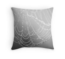 Spun Silver Throw Pillow