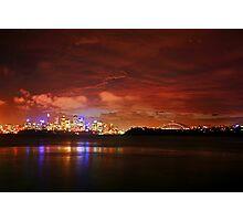 City under storm Photographic Print