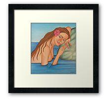 Lady In Lake Framed Print