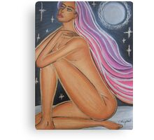 Nude In Moonlight Canvas Print
