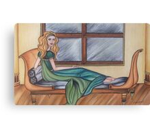 Reclining By Window Canvas Print