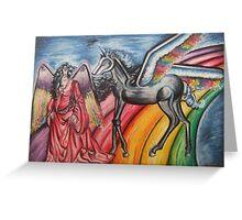 Girl & Unicorn Greeting Card