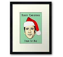 12 Days of Cagemas / Nic Cage / Nicolas Cage / Nicolas Cage Christmas / Funny Christmas Framed Print