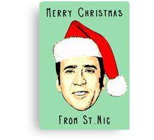 12 Days of Cagemas / Nic Cage / Nicolas Cage / Nicolas Cage Christmas / Funny Christmas Canvas Print