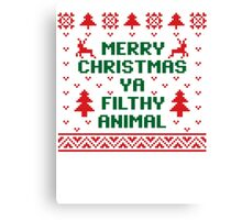 Filthy Animal Sweater Canvas Print