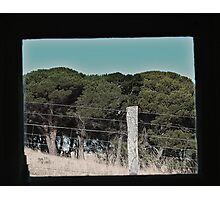 Farm through a window Photographic Print