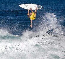 iPad Case. Kelly Slater at 2010 Billabong Pipe Masters In Memory Of Andy Irons. by Alex Preiss