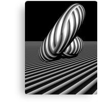 3d abstract stripe play Canvas Print