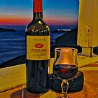 Wine in Fira by Barbara  Brown