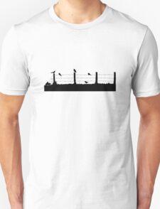 Birds on Fence Unisex T-Shirt
