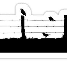 Birds on Fence Sticker