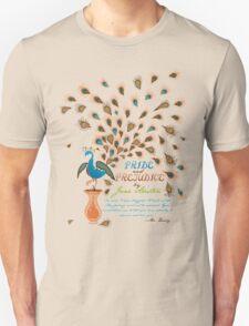 Paisley Peacock Pride and Prejudice: Modern Unisex T-Shirt