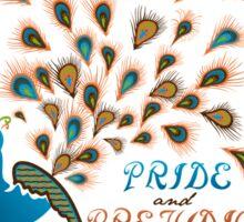 Paisley Peacock Pride and Prejudice: Modern Sticker