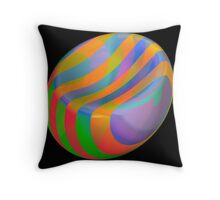 Funky beach ball Throw Pillow