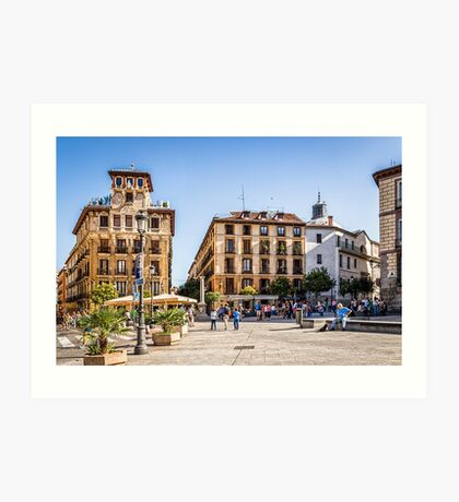 Ramales Square in Madrid Art Print