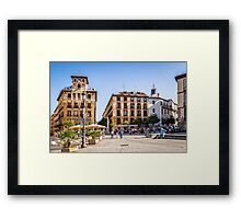 Ramales Square in Madrid Framed Print