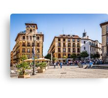 Ramales Square in Madrid Canvas Print