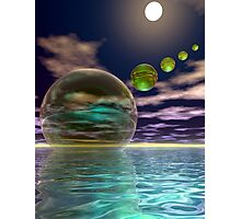 Night invasion of the spheres Photographic Print