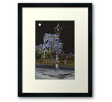 Lamp Light by Moon Light Framed Print
