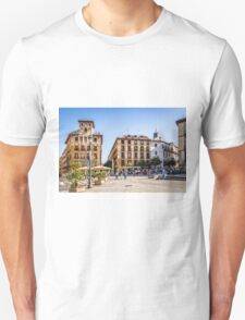 Ramales Square in Madrid Unisex T-Shirt