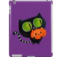 Cute Black Halloween Cat iPad Case/Skin