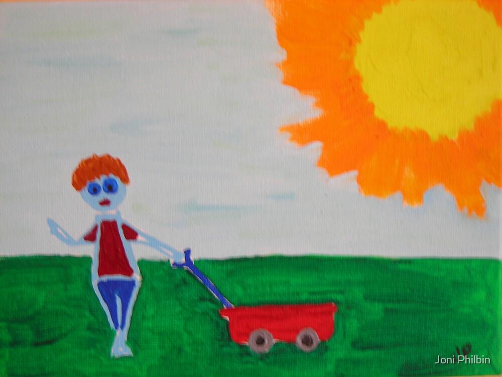 Little Red wagon by Joni Philbin