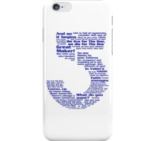 Babylon 5 Quotes - Blue iPhone Case/Skin