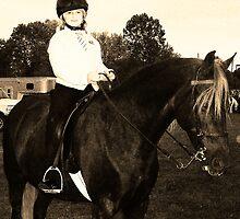 Young Jockey in Black & White by Chasity Edmonson-Hobbs