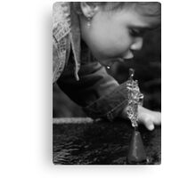 Water Sculptures Canvas Print