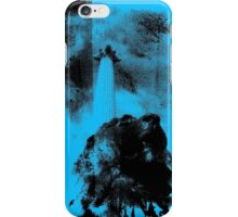 Trafalgar Square Lion, London UK Blue iPhone Case/Skin