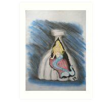 Bottle Of Mermaid Art Print