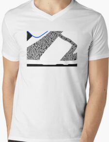 Made in China SB x Superme White/Cement - Pop Art, Sneaker Art, Minimal Mens V-Neck T-Shirt
