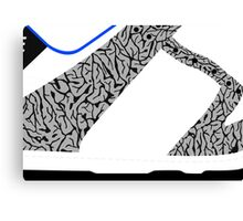 Made in China SB x Superme White/Cement - Pop Art, Sneaker Art, Minimal Canvas Print
