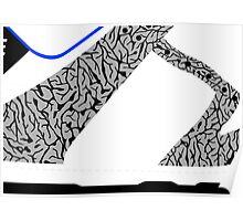 Made in China SB x Superme White/Cement - Pop Art, Sneaker Art, Minimal Poster