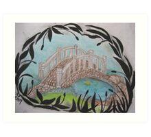 Catail Bridge Art Print
