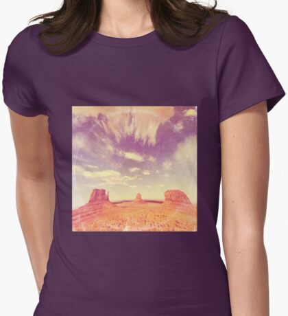Navajo Country - America As Vintage Album Art Womens Fitted T-Shirt