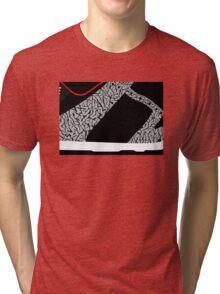 Made in China SB x Superme Black/Cement - Pop Art, Sneaker Art, Minimal Tri-blend T-Shirt