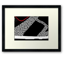 Made in China SB x Superme Black/Cement - Pop Art, Sneaker Art, Minimal Framed Print