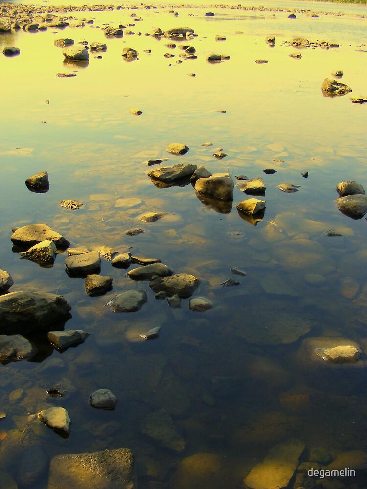 rock sunset  by degamelin
