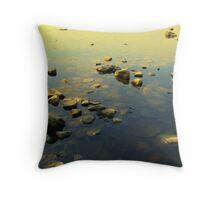 rock sunset  Throw Pillow