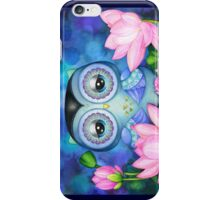 Owl in Lotus Pond iPhone Case/Skin