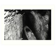 canoe mine Art Print