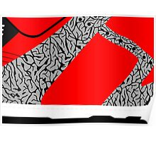 Made in China SB x Superme Red/Cement - Pop Art, Sneaker Art, Minimal Poster