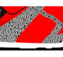 Made in China SB x Superme Red/Cement - Pop Art, Sneaker Art, Minimal Photographic Print