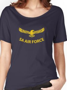 South African Air Force (Yellow Text) Women's Relaxed Fit T-Shirt