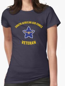 South African Air Force (SAAF) Veteran (Yellow Text) Womens Fitted T-Shirt